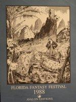 Florida Fantasy Festival Poster- Signed Small Dinosaur Remark- 1988 Comic Art