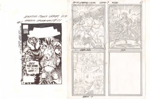Amazing Spider-Girl #11 Cover Prelim and #9 Interior Prelim - Carnage - 2007 Comic Art