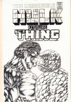 The Incredible Hulk featuring The Thing Cover Recreation Commission - Signed Comic Art