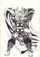 Thor Full Figure Arms Crossed - Signed Comic Art