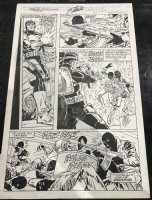 Web of Spider-Man Annual #6 p.5 - Great Punisher from ASM #129 Artist - 1990 Signed by STAN LEE Comic Art