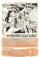 Flash #177 p.30 - Flash & Iris Embrace plus Villain Jailed End Page - 1968 Comic Art
