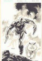 The Last Phantom #7 Cover - The Phantom Running with Devil - Ink Wash - 2011 Signed Comic Art