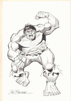 The Incredible Hulk Full Figure Commission - Signed Comic Art