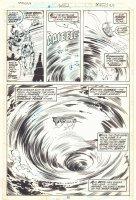 Tarzan #20 p.22 - Pirate Ship Whirlpool Splash - 1979  Comic Art