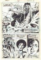 Tarzan #20 p.26 - Awesome Black Jungle Babe vs. Dinosaur 1/2 Splash - 1979  Comic Art