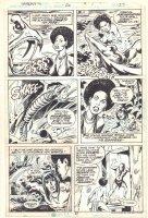 Tarzan #20 p.27 - Awesome Black Jungle Babe Kills Dinosaur - 1979  Comic Art