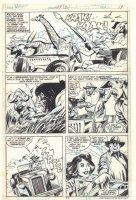 Tarzan #24 p.17 - Babes with Guns vs. Animals - 1979  Comic Art