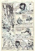 Tarzan #24 p.26 - Lion and Rhino vs. Poachers - Dracula Portrait Sketch by Sal on Back - 1979  Comic Art