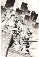 Teenage Mutant Ninja Turtles Commission after Kevin Eastman - 2014  Comic Art