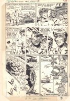 G.I. Combat #261 p.9 - 'The Invisible Medals' End Page - 1984 Signed Comic Art