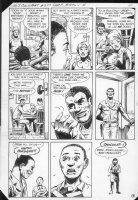 G.I. Combat #257 p.3 Haunted Tank w/ All Black Characters Comic Art