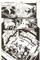 Nightwing #32 p.2 - Great Shootout Page - 1999 Signed Comic Art