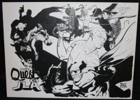 Johnny Quest vs. JLA - LA - 2009 Signed Comic Art