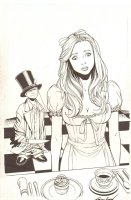 Grimm Fairy Tales presents Wonderland: Through the Looking Glass #2 Cover - 2013 Signed Comic Art