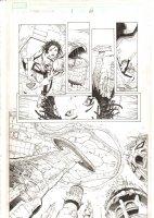 X-Men: The End #1 p.6 - Aliyah Bishop and Kree Ship 1/2 Splash - 2004 Comic Art