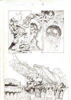 X-Men: The End #1 p.14 - Warskrull Shoots Down Ship 1/2 Splash - 2004 Comic Art