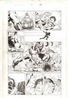 X-Men: The End #1 p.15 - Aliyah Bishop vs. Warskrull - 2004 Comic Art