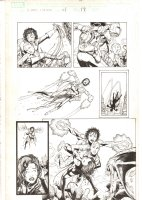 X-Men: The End #1 p.17 - Aliyah Bishop saves Jean Grey who saves Nocturne - 2004 Comic Art