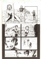 X-Men: The End #4 p.21 - Feral, Domino, and Rictor - 2004 Comic Art