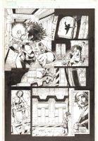 X-Men: The End #9 p.11 - Aliyah Bishop Action - 2004 Comic Art