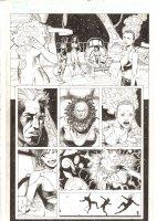 X-Men: The End #14 p.15 - Cassandra Nova takes overAliyah Bishop and disables Binary (Carol Danvers) - Jean Grey & Nightcrawler Apps - 2006 Comic Art