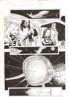 X-Men: The End #15 p.4 - Awesome Storm, Bishop, Psylocke, & Iceman in the Blackbird - 2006 Comic Art
