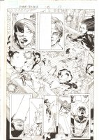 X-Men: The End #15 p.17 - Cyclops and Angel Teamwork Action in Battle - 2006 Comic Art
