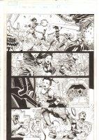 X-Men: The End #16 p.14 - Bishop, Psylocke, Nightcrawler, & Sage Action - 2006 Comic Art