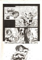 X-Men: The End #16 p.17 - Bishop and Aliyah Bishop Meet for the First Time - 2006 Comic Art