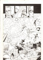 X-Men: The End #16 p.21 - Dazzler and Storm Combine their Powers to Stop the Battle Splash - 2006 Comic Art