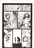 X-Men: The End #17 p.4 - Aliyah Bishop and Bishop Talk for the First Time - Deathbird App - - 2006 Comic Art