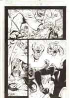 X-Men: The End #18 p.4 - Beast tries to resuscitate Wolverine - Imperial Superguardians vs. Phoenix Force Cassandra Nova - 2006 Comic Art