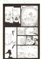 X-Men: The End #18 p.6 - Dazzler Blows a Hole in Phoenix Force Cassandra Nova's Head - Storm, Iceman, & Bishop Action -  - 2006 Comic Art