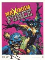 Maximum Force #1 Comic and Zombie Signed Print  Comic Art