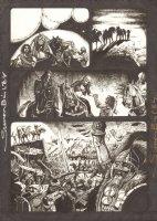Four Horsemen of the Apocalypse - Cheering - Signed Comic Art