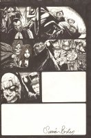 Four Horsemen of the Apocalypse - White Out- Signed Comic Art