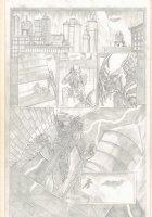 Predator vs. Batman Portfolio Piece - Signed Comic Art