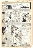 Avengers #251 p.18 - Wasp Action - 1985 Signed Comic Art