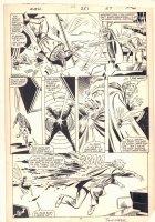 Avengers #251 p.20 - Wasp vs. Baron Brimstone - 1985 Signed Comic Art