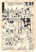 Avengers #252 p.14 - Captain America, Starfox, Scarlet Witch, and Hercules Action - 1985 Signed Comic Art