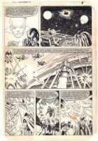 Avengers #219 p.9 - Drax the Destroyer and Moondragon - Captain America, Thor, & Iron Man - 1981 Comic Art