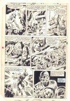 Ka-Zar the Savage #24 p.4 - Ka-Zar, Ramona Starr of A.I.M., and Zabu Action vs. Evil Scientist - 1983 Comic Art