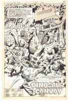 Weird War Tales #100 p.3 - 'Creature Commandos Enter The War That Time Forgot' Title Splash - Creature Commandos vs. Dinosaurs - 1981 Comic Art