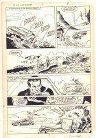 West Coast Avengers #1 p.7 - Car Chase Action - 1984 Signed Comic Art