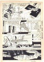 West Coast Avengers #2 p.19 - Hawkeye, Iron Man (Jim Rhodes), and Mockingbird corner the Blank - 1984 Signed Comic Art