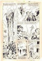 West Coast Avengers #2 p.21 - Iron Man (Jim Rhodes), Wonder Man, Tigra, Hawkeye, and Mockingbird - 1984 Signed Comic Art