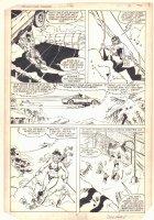 West Coast Avengers #3 p.2 - Iron Man (Jim Rhodes) and Wonder Man Rescue - Bikini Babe - 1984 Signed Comic Art