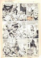 West Coast Avengers #3 p.3 - Mockingbird and Hawkeye Action - 1984 Signed Comic Art