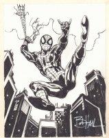 Spider-Man Webslinging Commission - Signed Comic Art
